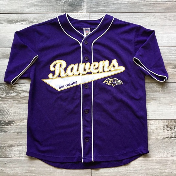 NFL Ravens Ed Reed Baseball Jersey
